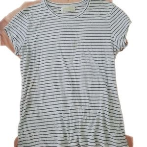 The lady & the Sailor navy striped white top sz 2